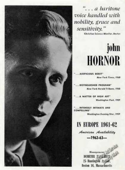 John Horner Photo Baritone Music (1961)