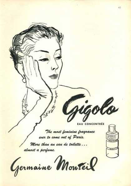 Germaine Monteil Gigolo Fragrance (1952)