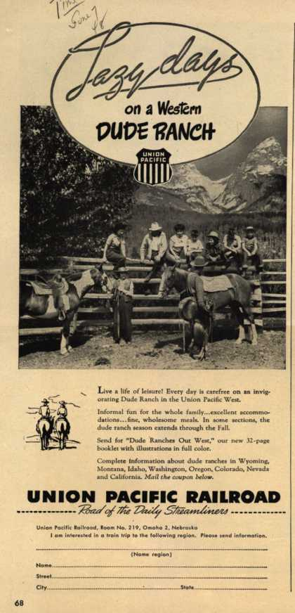 Union Pacific Railroad's Union Pacific West – Lazy days on a Western Dude Ranch (1948)