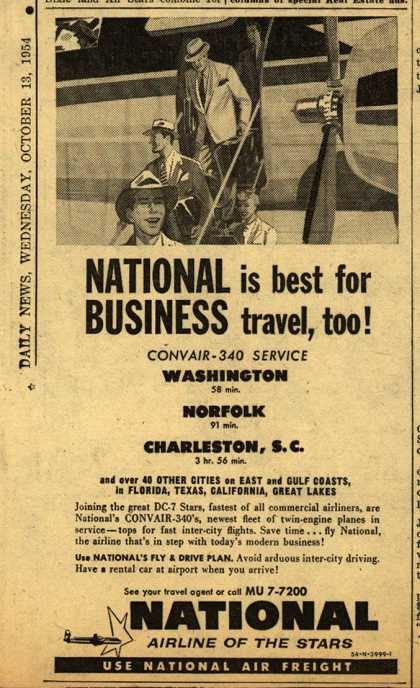 National Airline's Business Travel – NATIONAL in best for BUSINESS travel, too (1954)