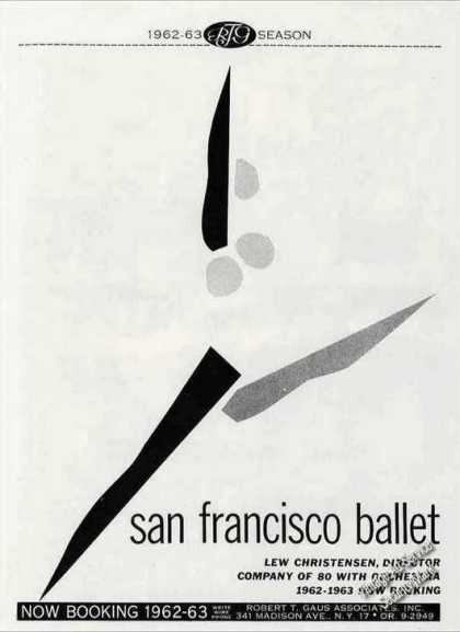 San Francisco Ballet Booking (1962)