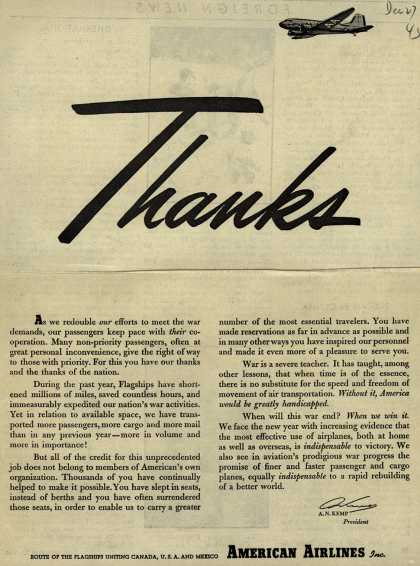 American Airlines – Thanks (1945)