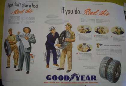 Gooyear Tires If you don't give a hoot Read this… (1946)
