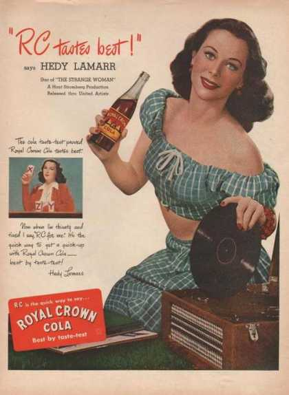 Royal Crown Cola Hedy Lamarr (1946)