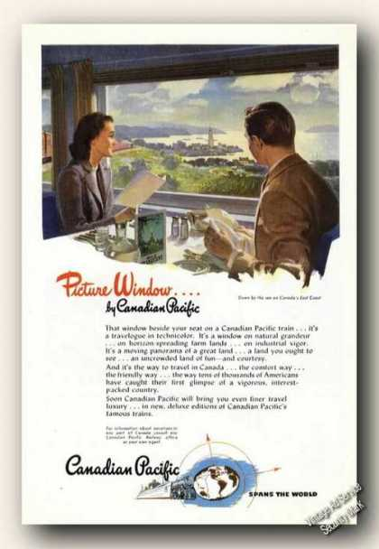 Picture Window By Canadian Pacific Trains (1947)