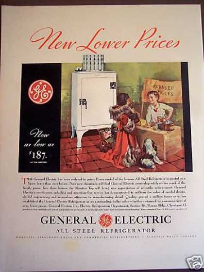 Kids and Dog Art Ge Monitor Top Refrigerator (1932)