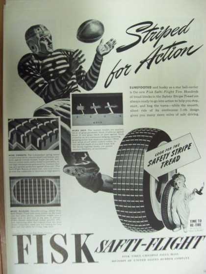 Striped for Action Fisk Car Tires (1941)