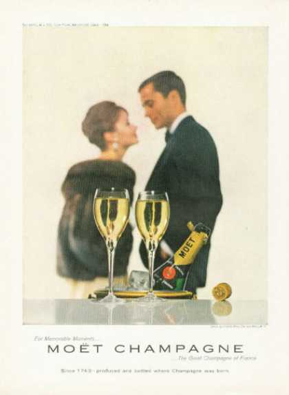 Moet French Champagne Bottle (1961)
