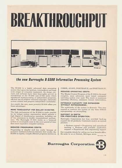 Burroughs B 5500 Computer System (1964)