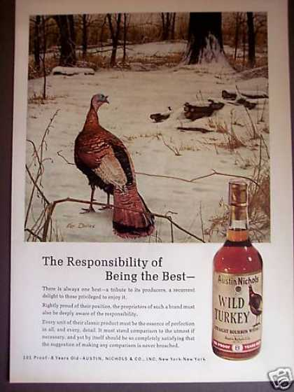 Ken Davies Art Wild Turkey Whiskey (1971)