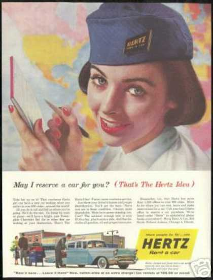 Pretty Woman Photo Hertz Rent A Car Vintage (1957)