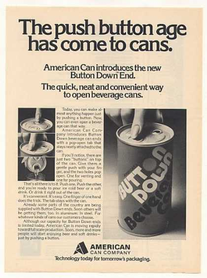 American Can Button Down End Beverage Can (1973)