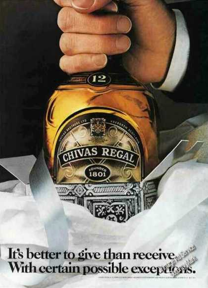 "Chivas Regal ""With Certain Possible Exceptions"" (1979)"
