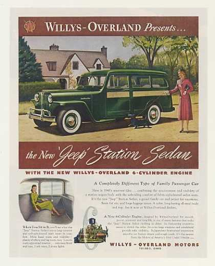 Willys-Overland Jeep Station Sedan Family Car (1948)