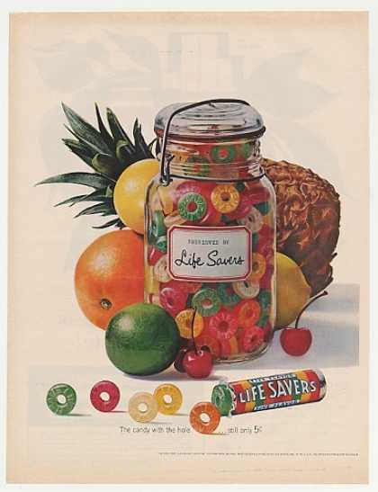 Life Savers Fruit Preserves Jar Candy (1962)