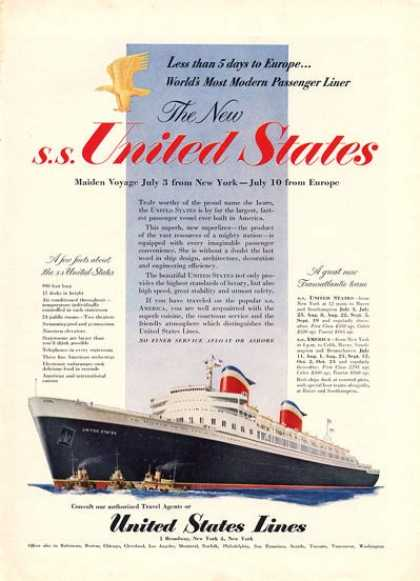 The New Ss United States Cruise Ship (1952)