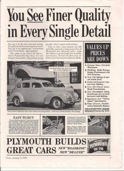 Plymouth Roadking Sedan Car (1939)