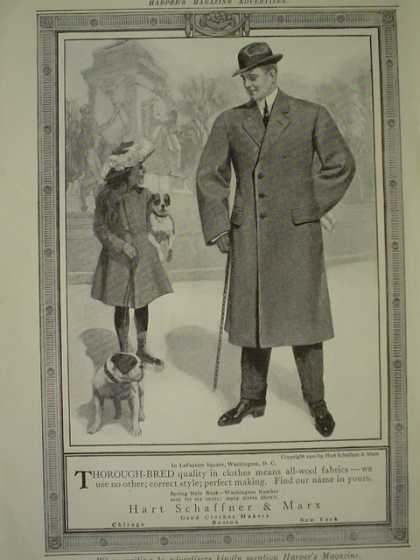 Hart Schaffner and Marx Clothing AND Peter's Milk Chocolate Uncle Sam (1910)