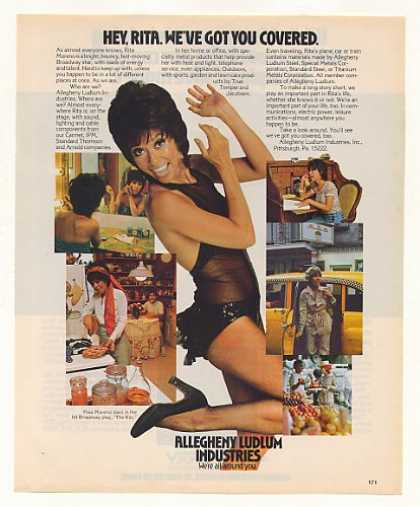 Rita Moreno Allegheny Ludlum Industries Photo (1975)