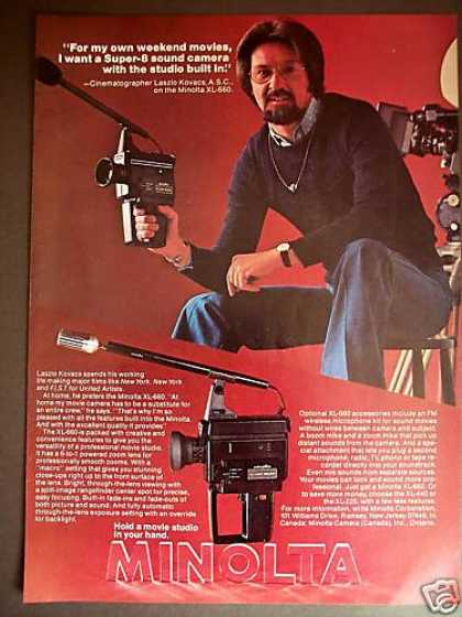 Laszlo Kovacs Minolta Super-8 Movie Camera (1977)