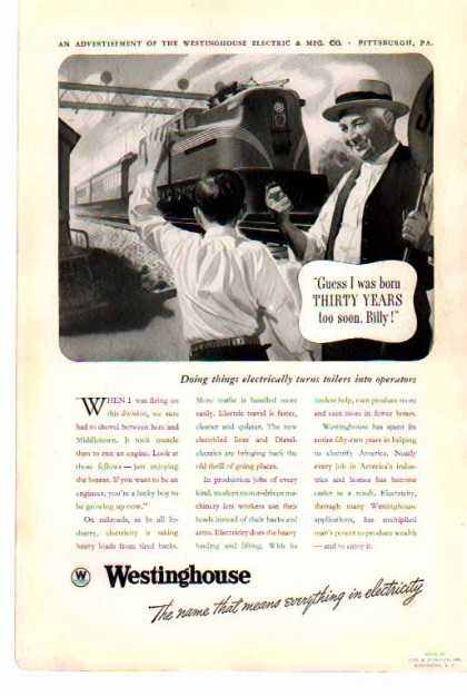Westinghouse – Improved Train Travel with Electricity (1938)