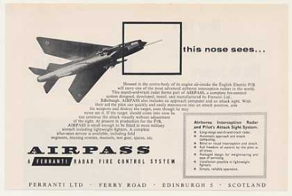 English Electric P1B Ferranti Airpass Radar Sys (1959)