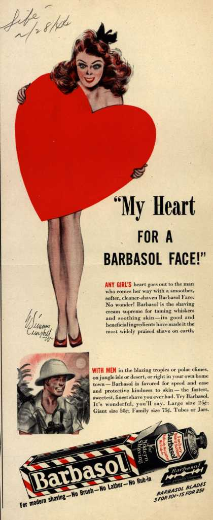 "Barbasol – ""My Heart For A Barbasol Face!"" (1944)"