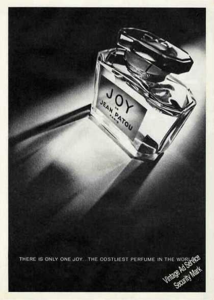 "Joy De Jean Patou ""There Is Only One"" Perfume (1972)"
