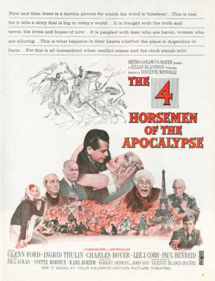 Movie Ad 4 Horseman of the Apocalypse Glenn Ford (1962)