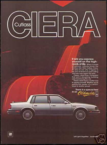 Oldsmobile Cutlass Ciera Vintage Car (1986)