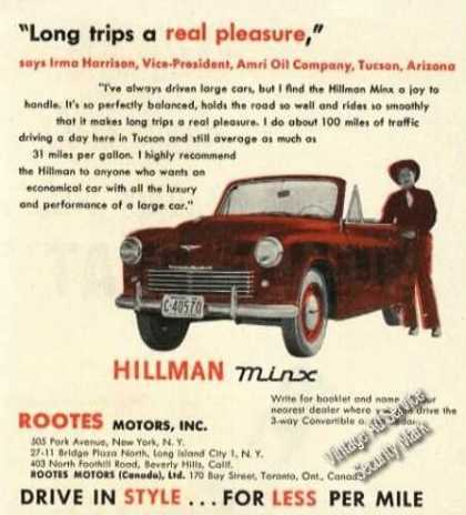 Hillman Minx Convertible Real Pleasure Car (1951)