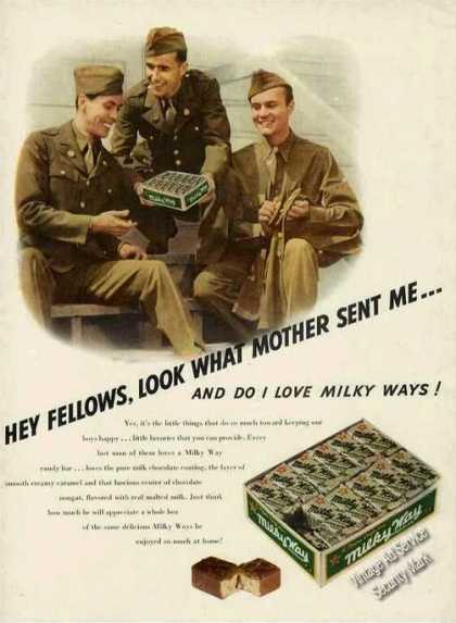 Milky Way Candy Wwii Soldiers In Uniform (1942)