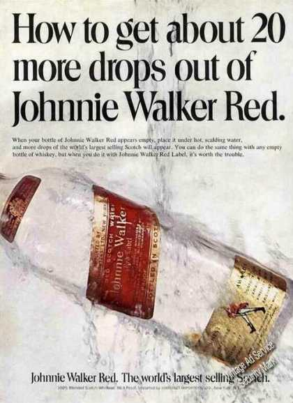 "Johnnie Walker Red ""How To Get 20 More Drops"" (1971)"