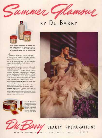 Richard Hudnut's DuBarry creams – Summer Glamour (1939)