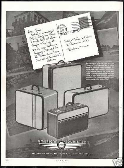 American Tourister Luggage Vintage Photo (1948)