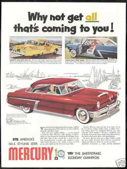 Mercury Monterey Car Photo Print Vintage (1952)
