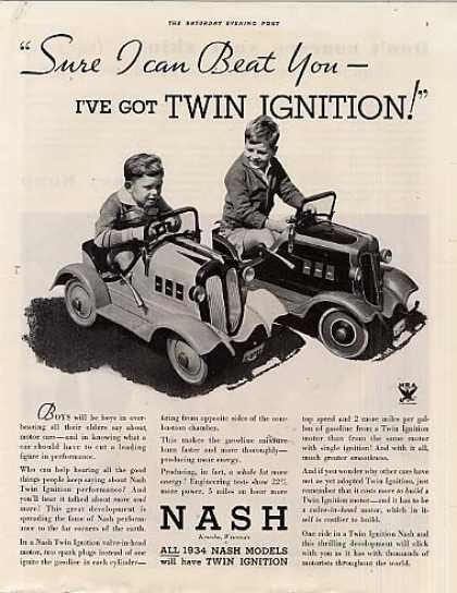 "Nash Car Ad ""Sure I Can Beat You... (1934)"