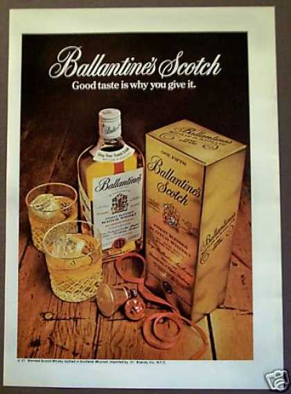 Ballantine's Scotch Whisky (1975)