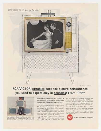 RCA Victor Vista Stylist Portable TV Television (1962)