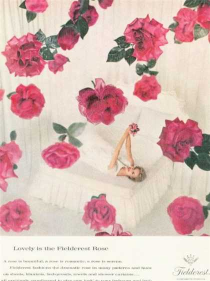 Fieldcrest Pink Rose Bedding Fashion (1962)