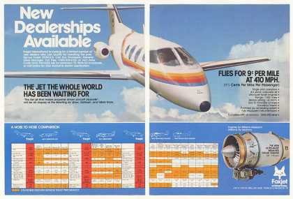 Foxjet ST600-S/8 Jet Aircraft Photo 2-Page (1978)