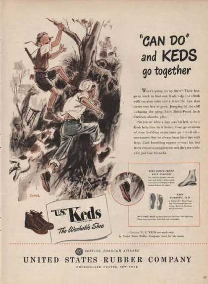 U.s. Keds Washable Shoes (1946)