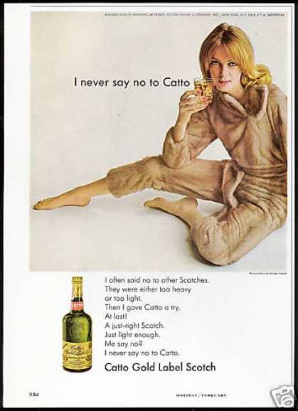 Catto Scotch Kaplan Mink Jumpsuit (1967)
