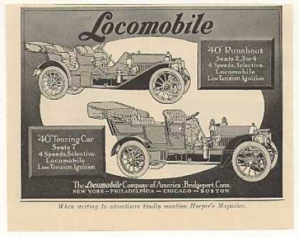 Locomobile 40 Runabout and Touring Car (1908)