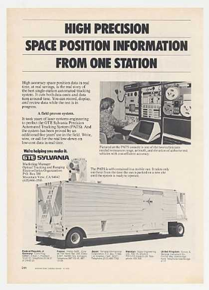 GTE Sylvania PATS Precision Auto Tracking Sys (1976)