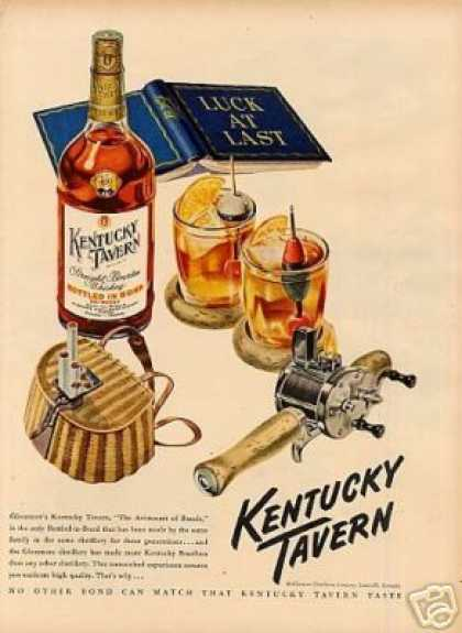 Kentucky Tavern Bourbon Whiskey (1949)
