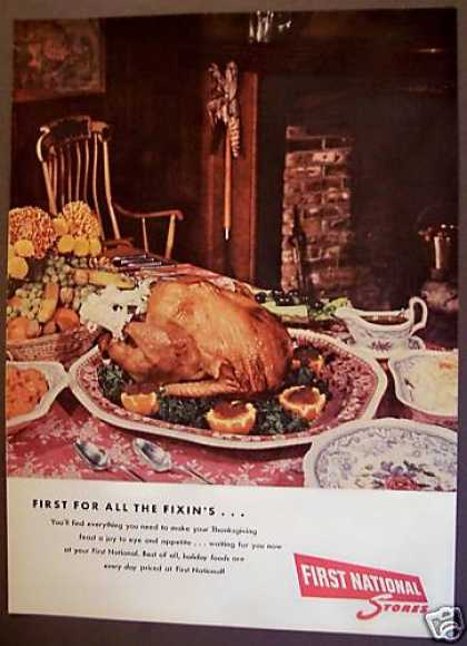 First National Stores Thanksgiving Food (1955)