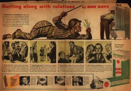Pepsodent Company's Pepsodent Tooth Powder – Getting along with relatives by Bob Hope (1943)