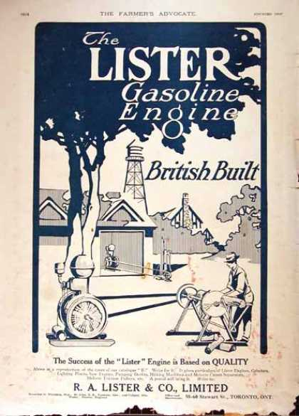 Lister Gasoline Engines (1914)