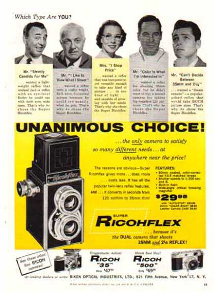 RICOH – Ricohflex Dual Camera – Riken Optical (1957)